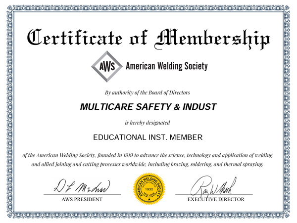 Certification & Memberships :: Multicare Safety & Industrial ...